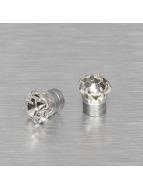 MSTRDS Ohrringe Mangnet Crystal 8mm silberfarben