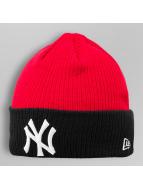 New Era Beanie Contrast Rib NY Yankees rot