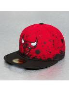 New Era Fitted Cap Panel Splatter Chicago Bulls red