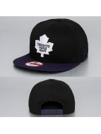 New Era Snapback Cap Cotton Block Toronto Maple Leafs black