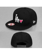 New Era Snapback Cap With Hearts black