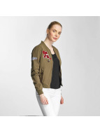 Only OnlJennie Badge Bomber Jacket Kalamata