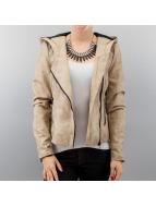 Only Leather Jacket beige