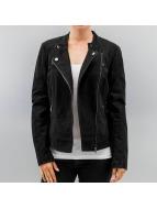Only Leather Jacket onlEffort black