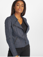 Only Leather Jacket onlAva Faux Leather blue