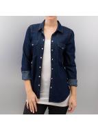 Only overhemd blauw