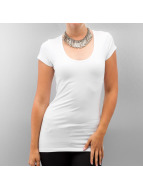 Only T-Shirt Live Love Long Basic white