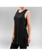Only t-shirt onlRie Rib Slit Long zwart