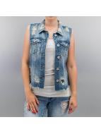 Only Vest onlRia Cropped Denim blue