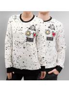 Paris Premium Patches Sweatshirt White/Black