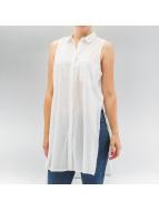 Pieces Blouse/Tunic pcBea Slit white
