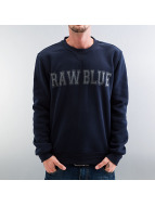 Raw Blue Pullover blau