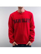 Raw Blue Pullover red