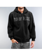 Raw Blue Zip Hoodie black