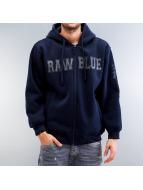 Raw Blue Zip Hoodie blau