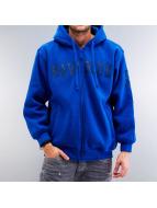 Raw Blue Zip Hoodie blue