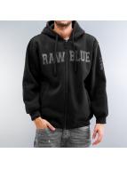Raw Blue Zip Hoodie schwarz