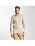 Knit Sweatshirt Beige...