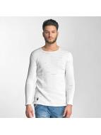 Red Bridge Knit Sweatshirt White