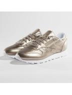 Reebok Classic Leather Melted Metallic Pearl Sneakers Metallic Grey Golden/White
