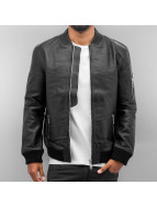 Religion Leather Jacket Rebel black