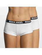 Rock Angel Underwear Double Pack Logo white