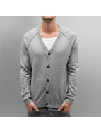 Selected Cardigan Aron Granddad gray