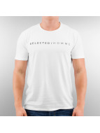 Selected T-Shirt Pima Logo white