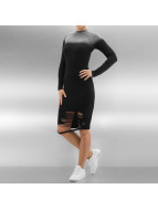 Sixth June Dress Close Fitting Long Destroyed black