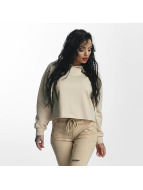 Sixth June Hoodie Classic Oversize Cropped beige