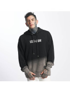 Sixth June Hoodie Oversize Blach Washed Logo black