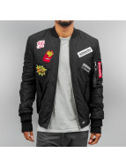 Sixth June Lightweight Jacket All over Patches black