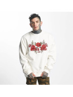 Sixth June Pullover Classic Oversize Roses Embroideries white
