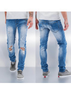 Sixth June Straight fit jeans blauw
