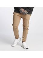Sixth June Sweat Pant Ankle Zipper beige