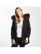 Sixth June Oversize With Fake Fur Hood Classic Parka Black/Burgundy