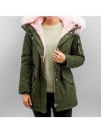 Sixth June Oversize With Fake Fur Hood Classic Parka Khaki/Baby
