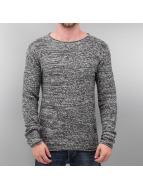 Solid Pullover grau