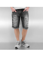 Ripped Jeans Shorts Blac...
