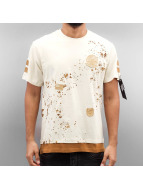 Southpole T-Shirt Patch And Print beige