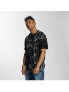 Southpole T-Shirt Camo Print Fur Technique black