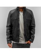 Stitch & Soul Winter Jacket PU Sleeves black