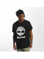 Timberland T-Shirt Linear Basic Stacked black