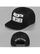 TrueSpin Snapback Cap Sorry Im Fresher black