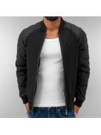 Urban Classics Bomber jacket Diamond Nylon Wool black