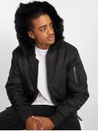 Urban Classics Bomber jacket Hooded Basic black