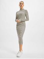 Urban Classics Dress Striped Turtleneck black