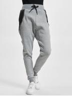 Urban Classics Jogginghose Side Zip Leather Imitation grau