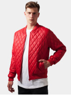 Urban Classics Leather Jacket red