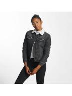 Urban Classics Lightweight Jacket Sherpa Denim black